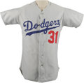 Baseball Collectibles:Uniforms, 1970s Doug Rau Game Worn Jersey. The heady hurler with a varied pitch selection was a consistent winner for the Dodgers dur...