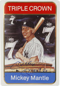 Autographs:Sports Cards, Mickey Mantle Signed Ceramic Baseball Card. Exceptional limited-edition baseball card celebrates Mickey Mantle's unbelievab...