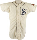 Baseball Collectibles:Uniforms, 1964 Chicago White Sox Minor League Team Game Worn Jersey. Elegant MacGregor flannel jersey was worn by a member of one of ...