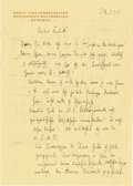 Autographs:Non-American, Richard Strauss Autograph Letter Signed...