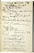 Autographs:Others, 1926 National Association Silver Jubilee Multi-Signed Book withLandis, Wilbert Robinson. Intriguing hardcover volume is de...