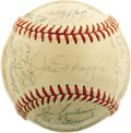 Autographs:Baseballs, 1950 New York Yankees Team Signed Baseball. The third of five consecutive World Championship seasons from the boys from the...