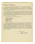 Autographs:Celebrities, Woody Guthrie Typed Letter Signed....