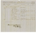 """Autographs:Military Figures, Union Major General Edward R. S. Canby Document Signed,"""" Examined & approved Edw Canby, two pages, partially printed Arm..."""