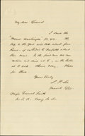 "Autographs:Military Figures, Rear Admiral Samuel P. Lee Autograph Letter Signed, ""S. P.Lee"", one page, 5"" x 8"", Virginia waters, March 6, 1863, ..."