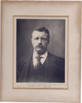 "Autographs:U.S. Presidents, Theodore Roosevelt Inscribed Signed Photograph Impressive 11"" x 15"" black-and-white Pach Bros. portrait of 26th President Th..."