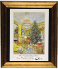 Autographs:U.S. Presidents, 1991 Large Presidential Christmas Card Signed by George and BarbaraBush,...