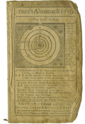 "Books:Pamphlets & Tracts, Ames Almanack for 1759, printed pamphlet (Boston: Printed and Soldby Draper, Green & Russell, & Fleet, 1759), 24 pages, 4""... (Total: 1 Item)"