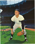 Autographs:Photos, 1980's Roger Maris Signed Photograph. Fantastic rarely seen color image of the 1961 season's greatest star finds him taking...