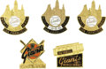 Baseball Collectibles:Others, 1965-78 World Series Phantom Press Pins (San Francisco Giants) Lot of 5. For of all sad words of tongue or pen, The saddest...
