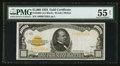 Small Size:Gold Certificates, Fr. 2408 $1,000 1928 Gold Certificate. PMG About Uncirculated 55 Net.. ...