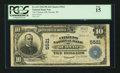 National Bank Notes:Wisconsin, Oconto, WI - $10 1902 Plain Back Fr. 633 The Citizens NB Ch. # 5521. ...