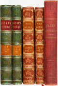 Books:Literature Pre-1900, Charles Lever. SIGNED. Group of Three Books in Five Volumes.Includes two first edition copies of Tom Burke (Dublin:Wil... (Total: 5 Items)