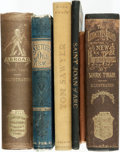 Books:Literature Pre-1900, Mark Twain. Group of Six Books. Lot includes: The InnocentsAbroad, or The New Pilgrims' Progress. Hartford: Ame...(Total: 6 Items)