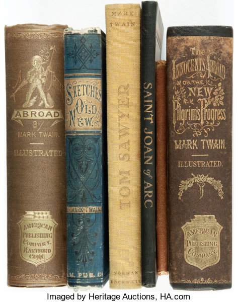 Mark Twain Group Of Six Books Lot Includes The Innocents Abroad