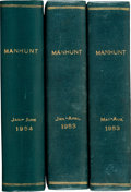 Pulps:Detective, Manhunt Bound Volumes (Flying Eagle Publications, 1953-54)....(Total: 3 Items)