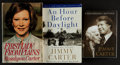 Miscellaneous Collectibles:General, Jimmy and Rosalynn Carter Signed Books Lot of 3....