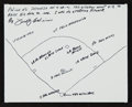 Baseball Collectibles:Others, Fred Caligiuri Hand Drawn and Signed Sketch - Ted Williams .406Theme....