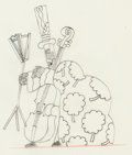 Animation Art:Production Drawing, Yellow Submarine Lord Mayor Animation Drawing (UnitedArtists/King Features,1968)....