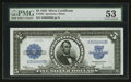 Large Size:Silver Certificates, Fr. 282 $5 1923 Silver Certificate PMG About Uncirculated 53.. ...