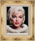 Movie/TV Memorabilia:Photos, A Marilyn Monroe Limited Edition Oversized Color Photograph Signedand Numbered by Lawrence Schiller, 1962, 1980s....