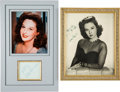 Movie/TV Memorabilia:Photos, Two Susan Hayward Inscriptions.... (Total: 2 Items)