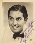 Movie/TV Memorabilia:Photos, Tyrone Power Photograph Signed....