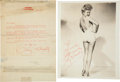 Movie/TV Memorabilia:Photos, Betty Grable Photograph Signed and Typed Letter Signed.... (Total: 2 )