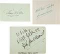 Movie/TV Memorabilia:Documents, Tyrone Power, Ann Miller, and Ray Milland Signatures,...