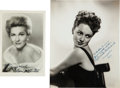 Movie/TV Memorabilia:Autographs and Signed Items, Olivia de Havilland and Joan Fontaine Autographed Photos....(Total: 2 )