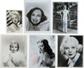 Movie/TV Memorabilia:Photos, Paulette Goddard, Betty Hutton, Janet Leigh, Lana Turner, and Loretta Young Signed Photographs.... (Total: 6 )