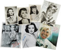 Movie/TV Memorabilia:Photos, Dinah Shore (Two), Jean Peters, Olivia de Havilland, Joan Crawford,and Others Signed Photographs....