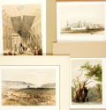 Books:Prints & Leaves, Group of Four Hand-Colored Plates Depicting Various ReligiousLandmarks. Various publishers and dates, circa 1856. ...