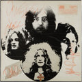 Music Memorabilia:Autographs and Signed Items, Led Zeppelin III Signed Rare Label LP (UK - Atlantic2401-002, 1970). ...