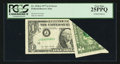 Error Notes:Foldovers, Fr. 1910-J $1 1977A Federal Reserve Note. PCGS Very Fine 25PPQ.....