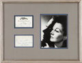 Movie/TV Memorabilia:Autographs and Signed Items, A Vivien Leigh Signed Christmas Gift Card to George Cukor, 1939....