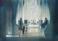 "A Pre-Production Concept Painting by Jack Martin Smith from ""The Wizard of Oz."""