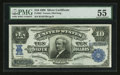 Large Size:Silver Certificates, Fr. 303 $10 1908 Silver Certificate PMG About Uncirculated 55.. ...