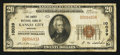 National Bank Notes:Missouri, Kansas City, MO - $20 1929 Ty. 1 The Liberty NB Ch. # 10039. ...