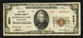 National Bank Notes:Pennsylvania, Conneaut Lake, PA - $20 1929 Ty. 2 The First NB Ch. # 6891. ...