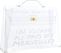 "Luxury Accessories:Bags, Hermes 35cm Clear Vinyl Souvenir de l'Exposition Kelly Bag withGold Hardware. Very Good Condition . 14"" Width x 10""H..."