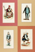 Books:Prints & Leaves, [Native Costume]. Group of Four Hand-Colored Engravings DepictingVarious Styles of Native Dress. [N.p., n.d., circa 1880]. ...