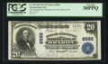 National Bank Notes:Pennsylvania, Sharon, PA - $20 1902 Plain Back Fr. 650 The Merchants &Manufacturers NB Ch. # 6560. ...