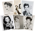 Movie/TV Memorabilia:Photos, Jane Wyman, Susan Hayward, Shirley Jones and Others Signed Photographs and Other Items....