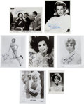 Movie/TV Memorabilia:Photos, Signed Photographs: Sophia Loren, Loretta Young, Shirley Jones(Two) and Others.... (Total: 7 )