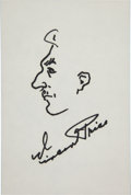 Movie/TV Memorabilia:Autographs and Signed Items, Vincent Price Sketch Signed....