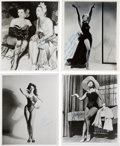 Movie/TV Memorabilia:Photos, Signed Photographs: Jane Russell, Dorothy Lamour, Julie Newmar, andOthers....