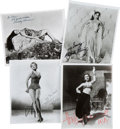 Movie/TV Memorabilia:Photos, Signed Photographs: Dorothy Lamour, Hedy Lamarr, Rhonda Fleming, and Arlene Dahl.... (Total: 4 )