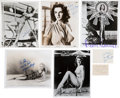 Movie/TV Memorabilia:Photos, Signed Photographs: Janet Leigh, Jane Russell, and Others....(Total: 5 )