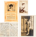 Movie/TV Memorabilia:Photos, Lillian Russell Signed Photograph and Autograph Letter Signed,...